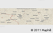 """Shaded Relief Panoramic Map of the area around 6°7'16""""S,23°1'29""""E"""