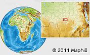 Physical Location Map of Mbuji-Mayi
