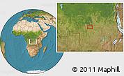 Satellite Location Map of Mbuji-Mayi