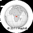 Outline Map of Mbuji-Mayi, rectangular outline