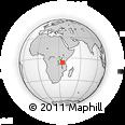 Outline Map of Tanzania, rectangular outline