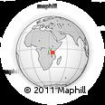 Outline Map of Dodoma, rectangular outline