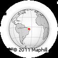 Outline Map of Catolé Do Rocha, rectangular outline