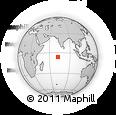 Outline Map of Chagos Archipelago, rectangular outline