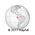 Outline Map of Moyobamba, rectangular outline