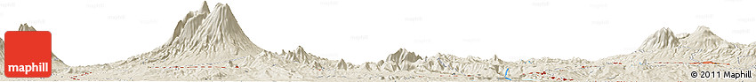 Shaded Relief Horizon Map of Babakan Dua
