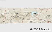 Shaded Relief Panoramic Map of Babakan Dua