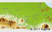 """Physical 3D Map of the area around 6°38'39""""S,108°1'30""""E"""