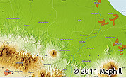 """Physical Map of the area around 6°38'39""""S,108°1'30""""E"""