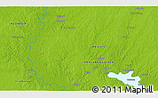 """Physical 3D Map of the area around 6°38'39""""S,141°10'30""""E"""