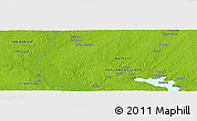 """Physical Panoramic Map of the area around 6°38'39""""S,141°10'30""""E"""