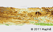 "Physical Panoramic Map of the area around 6° 38' 39"" S, 144° 34' 29"" E"