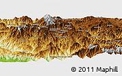 Physical Panoramic Map of Keiakaso