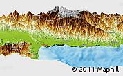 Physical Panoramic Map of Lumbaip