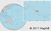 Gray Location Map of Kaekui