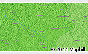 """Political 3D Map of the area around 6°38'39""""S,21°19'30""""E"""