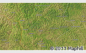 """Satellite 3D Map of the area around 6°38'39""""S,21°19'30""""E"""