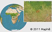 "Satellite Location Map of the area around 6°38'39""S,22°10'29""E"