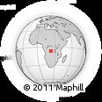 Outline Map of Dibaya, rectangular outline