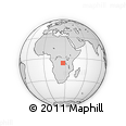 Outline Map of Kitenge, rectangular outline