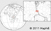 Blank Location Map of Busongo
