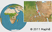 Satellite Location Map of Busongo