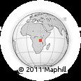 Outline Map of Busongo, rectangular outline