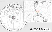 Blank Location Map of Karema