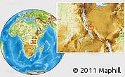 Physical Location Map of Karema