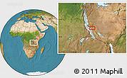 Satellite Location Map of Karema