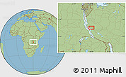 Savanna Style Location Map of Karema