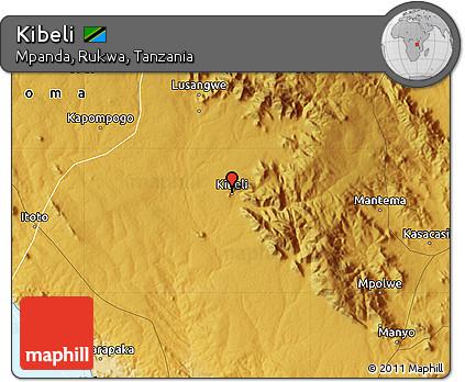 Free Physical Map of Kibeli