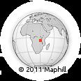 Outline Map of Karema, rectangular outline