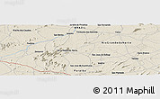 Shaded Relief Panoramic Map of Caicó