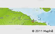Physical Panoramic Map of Dar es Salaam