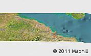 Satellite Panoramic Map of Dar es Salaam