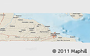 Shaded Relief Panoramic Map of Dar es Salaam