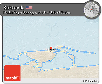 Kaktovik Alaska Map.Free Shaded Relief 3d Map Of Kaktovik