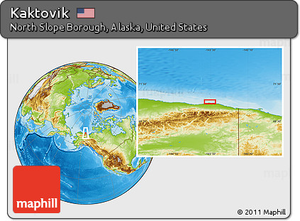 Kaktovik Alaska Map.Free Physical Location Map Of Kaktovik
