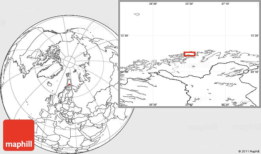 Blank Location Map of Hammerfest