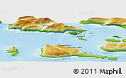 """Physical Panoramic Map of the area around 70°48'25""""N,51°46'29""""W"""