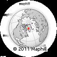 Outline Map of Qaarsut, rectangular outline