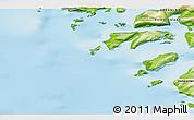 Physical 3D Map of Kangersuatsiaq