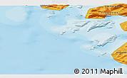 Political 3D Map of Kangersuatsiaq