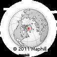 Outline Map of Kangersuatsiaq, rectangular outline