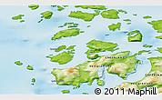 Physical 3D Map of Upernavik