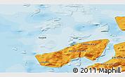 Political 3D Map of Upernavik