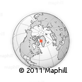 Outline Map of Upernavik, rectangular outline
