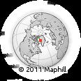 Outline Map of Upernavik, rectangular outline