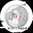Outline Map of Kejser Franz Joseph Fjord, rectangular outline